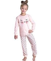 Taro Dívčí pyžamo Ada meruňkové