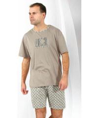 Regina Krátké pánské pyžamo Henry hnědé