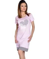 Taro Dámská noční košile Viva růžová se srdcem