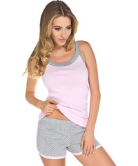 Italian Fashion Dámské letní pyžamo Aura růžové