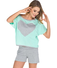 Italian Fashion Dámské pyžamo Lorin tyrkysové