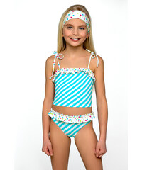 Lorin Plavky dívčí Adélka tyrkysovo bílé