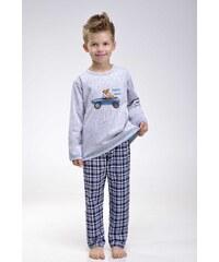 Taro Chlapecké pyžamo Alvin s pejskem šedé