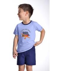 Taro Chlapecké pyžamo Samuel s letadlem modré