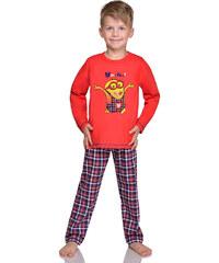 Taro Chlapecké pyžamo Mimoň super hero červené