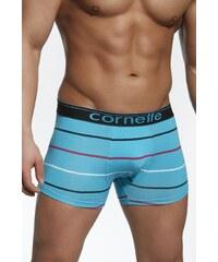 Cornette Boxerky pánské emotion vzor 50847 modré s proužky