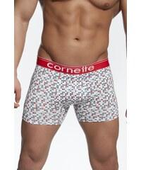 Cornette Boxerky pánské emotion vzor 50846 čtverečky