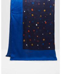 Ted Baker Schal mit gepunktetem Viereck Mittelblau