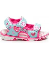 ERINO Luxusní růžovo-modré sandálky pro dívky
