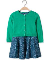 C&A Kleid und Strickjacke als Set in Grün