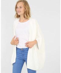 Gilet kimono blanc cassé, Femme, Taille L -PIMKIE- MODE FEMME
