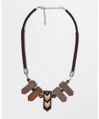 Pimkie Halskette aus Holz und Perlen