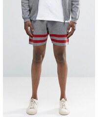 ASOS - Gestrickte gestreifte Shorts - Grau
