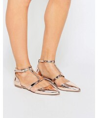 ASOS - LETTY - Ballerines plates pointues - Beige