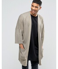 ASOS - Cardigan long style kimono - Beige - Beige