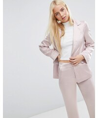 ASOS - Veste de pyjama passepoilée en satin doux - Rose