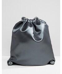 Boopacks - Metallic-Rucksack mit Kordelzug - Silber