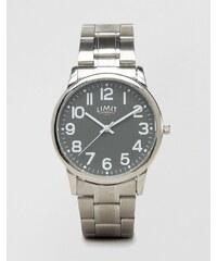 Limit - Silberfarbene Armbanduhr mit grauem Zifferblatt, exklusiv bei ASOS - Silber