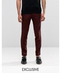 Noak - Pantalon slim moucheté - Rouge