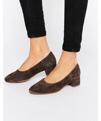 Vagabond - Jamilla - Chaussures à talons carrés en daim - Gris foncé - Gris