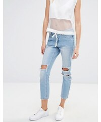 Vero Moda - Jean skinny déchiré - Bleu