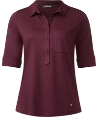 Street One - Polo basique Florence - night plum