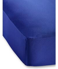 bpc living Drap-housse Jersey Microfibre 40 cm bleu maison - bonprix