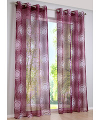 bpc living Voilage Cercles (1 pce.), œillets violet maison - bonprix