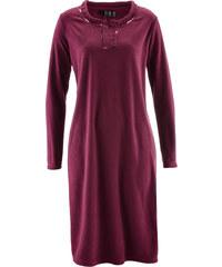 bpc selection Fleece-Kleid langarm in lila von bonprix