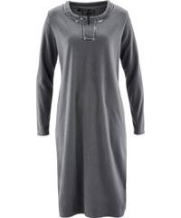 bpc selection Fleece-Kleid langarm in grau von bonprix