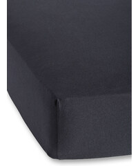 bpc living Spannbettlaken Jersey First Class 40 cm in schwarz von bonprix