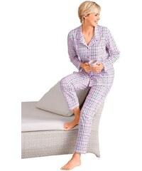 Große Größen: Pyjama, Rosalie, ecru-kariert, Gr.36/38-52/54
