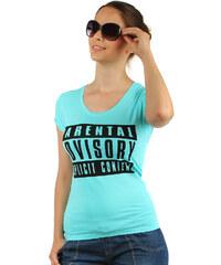 TopMode Pohodlné tričko s nápisy modrá