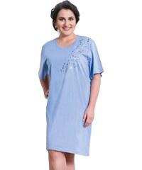 Vienetta Secret Bavlněná noční košile pro plnoštihlé Alda modrá XL