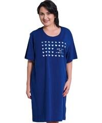 Vienetta Secret Bavlněná noční košile pro plnoštihlé Adina modrá XL