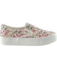 Lesara Plateau-Sneaker mit Blumen-Print - 36