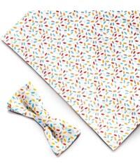 Maison Voliaire Valmy - Noeud papillon avec pochette de costume assortie - multicolore