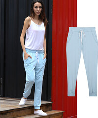 Lesara Regular Fit-Sweatpants mit elastischem Beinabschluss - S