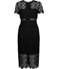 New Look Robe mi-longue en dentelle noire premium