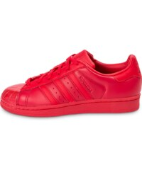 adidas Baskets/Tennis Superstar Glossy Toe Rouge Femme