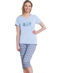 Vienetta Secret Dámské pyžamo Judit světle modré