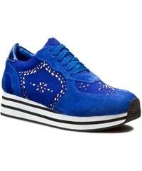 Sneakers BRUNO PREMI - Cow Suede Canvas Specchiato G3910X Cobalto