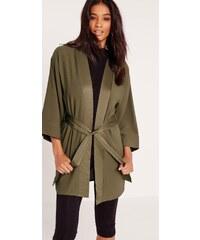 MISSGUIDED Stylové kimono sako s látkovým páskem