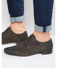 ASOS - Chaussures derby en daim - Gris - Gris