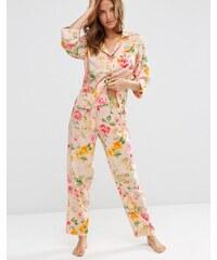 ASOS - Ensemble pyjama chemise et pantalon traditionnel à fleurs - Multi