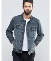ASOS - Veste slim teintée en jean délavé - Bleu - Bleu