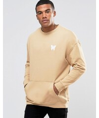 Good For Nothing - Sweat à épaules tombantes - Beige