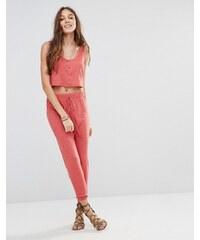 Honey - Punch - Pantalon de jogging boyfriend, partie d'un ensemble - Rouge