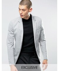 Only & Sons - Blazer cintré en jersey - Gris