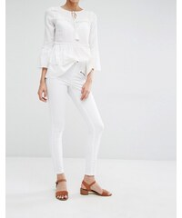 Vero Moda - Jean skinny avec fermetures éclair - Blanc